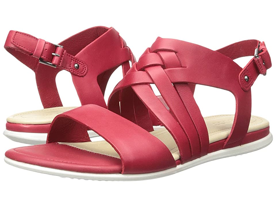 ECCO Touch Braided Sandal (Chili Red Calf Leather) Women