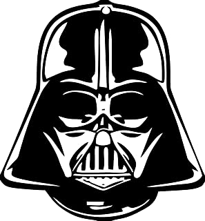 Apollo's Products Darth Vader Face - for Walls, Windows, Laptops or Anywhere You Want - Vinyl Wall Decal 6 X 7 Inches