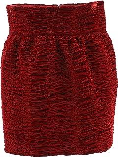 SAINT LAURENT Luxury Fashion Womens 588218Y735V6366 Red Skirt | Fall Winter 19