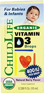 La vitamina D3 orgánica gotas. Berry con sabor natural. 400 UI - ChildLife