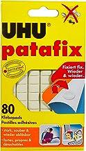 UHU Patafix, verwijderbare en herbruikbare kleefpads, wit, 80 stuks