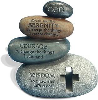 "Enesco Legacy of Love by Gregg Gift Stacked Serenity Prayer Stones Stone Resin Figurine, 5.5"""