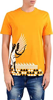 Versace Collection Men's Mango Orange Graphic Short Sleeve Crewneck T-Shirt Size US XL IT 54