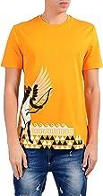 Versace Collection Men's Mango Orange Graphic Short Sleeve Crewneck T-Shirt Size US S IT 48