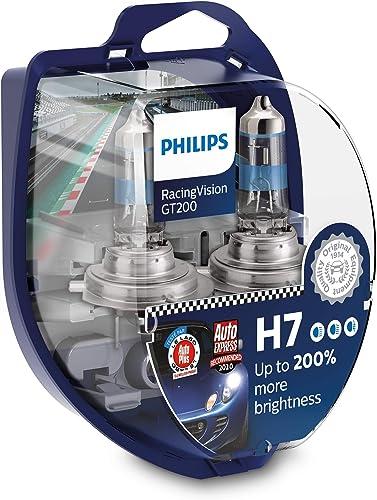 Philips RacingVision GT200 H7 lampe pour éclairage avant +200%, set de 2