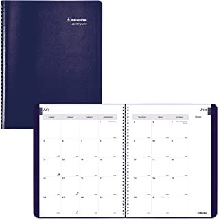 Blueline Monthly Academic Planner, 14-Month, July 2020 to August 2021, Twin-Wire Binding, 11 X 8.5 Inches, Blue (CA701.BLU...