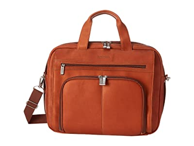 Kenneth Cole Reaction Out of the Bag 5 to 6 1/2 Double Gusset Expandable Top Zip Portfolio Computer Case (Cognac) Computer Bags