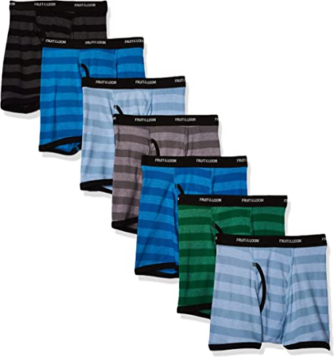 Fruit of the Loom Boys' Tag Free Cotton Boxer Briefs