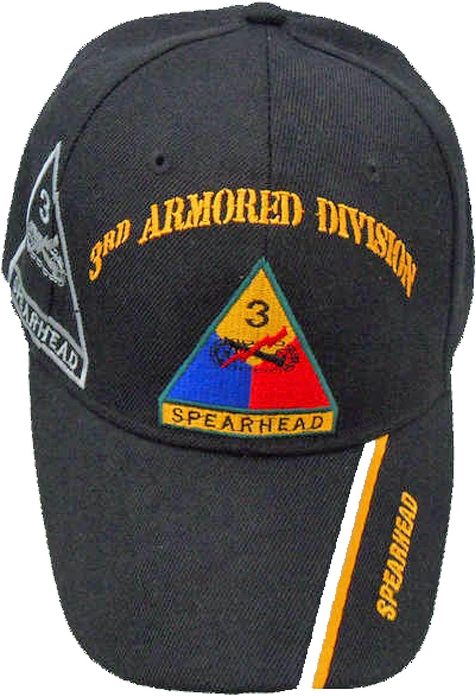 3rd Armored Division Baseball Cap Bumper Sticker Spearhead Baseball Hat Army Black