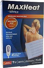 "SoftHeat MaxHeat Washable Heating Pad 12"" x 24"" X-Large Size Pad"