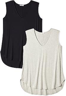 7e0b16ce0d2 Daily Ritual Women s Plus Size Jersey V-Neck Tank Top