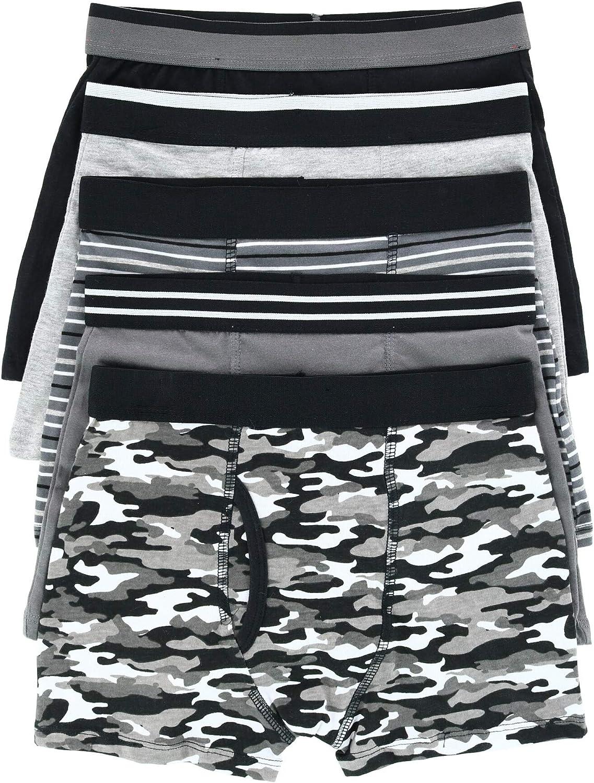 Rene Rofe Boy's 5 Pack Assorted Camo Print Boxer Brief Underwear