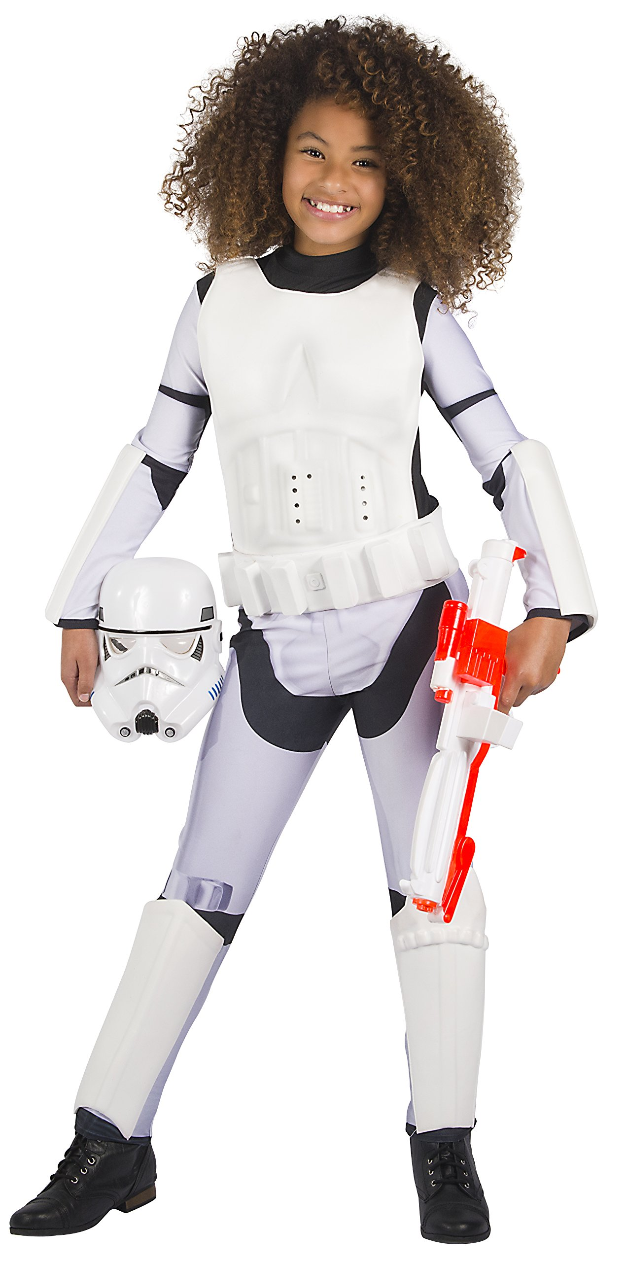 Girls Star Wars Storm Trooper TV Book Film Halloween Fancy Dress Costume Outfit