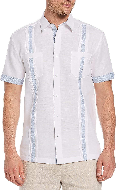Cubavera Men's Standard Short Sleeve L/C Fashion Guayabera Shirt