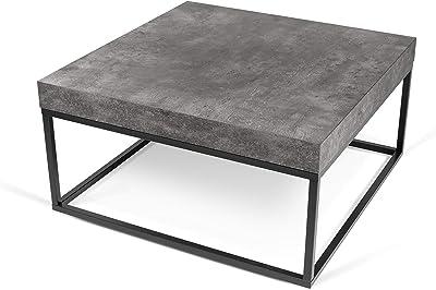 TemaHome Petra 75, Beton et métal Noir, 75x75x38 cm (LxPxH)