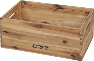 CAPTAIN STAG鹿牌木箱 木盒 收纳箱 收纳箱 木制BOX 可堆叠 CS经典