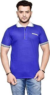 Ytrick Men's Blue Polo T-Shirt…