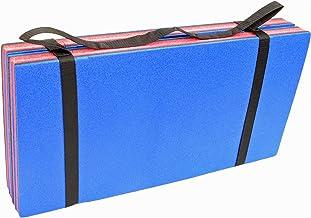 Rock House - Esterilla de espuma de 4 pliegues, 120 x 60 cm, almohadilla de espuma para gimnasia para interiores y exteriores