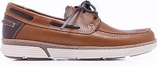 C01105 Zapatos Náuticos en Marrón Marino de Piel Hombre Verano con Cordones