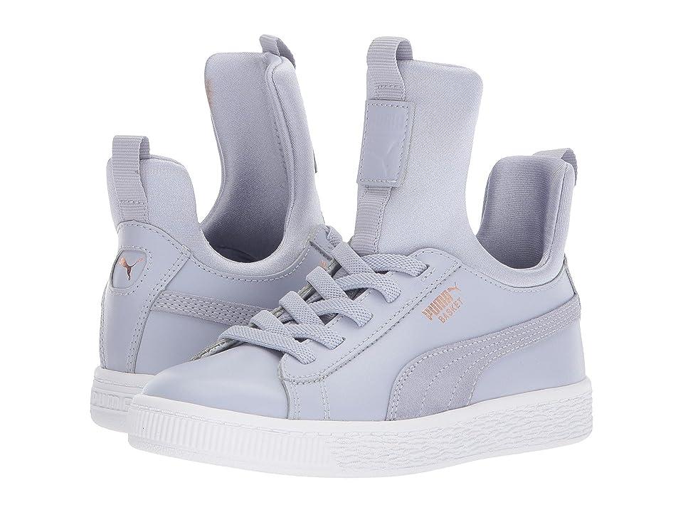 Puma Kids Basket Fierce AC (Little Kid) (Icelandic Blue/Rose Gold/PUMA White) Girls Shoes