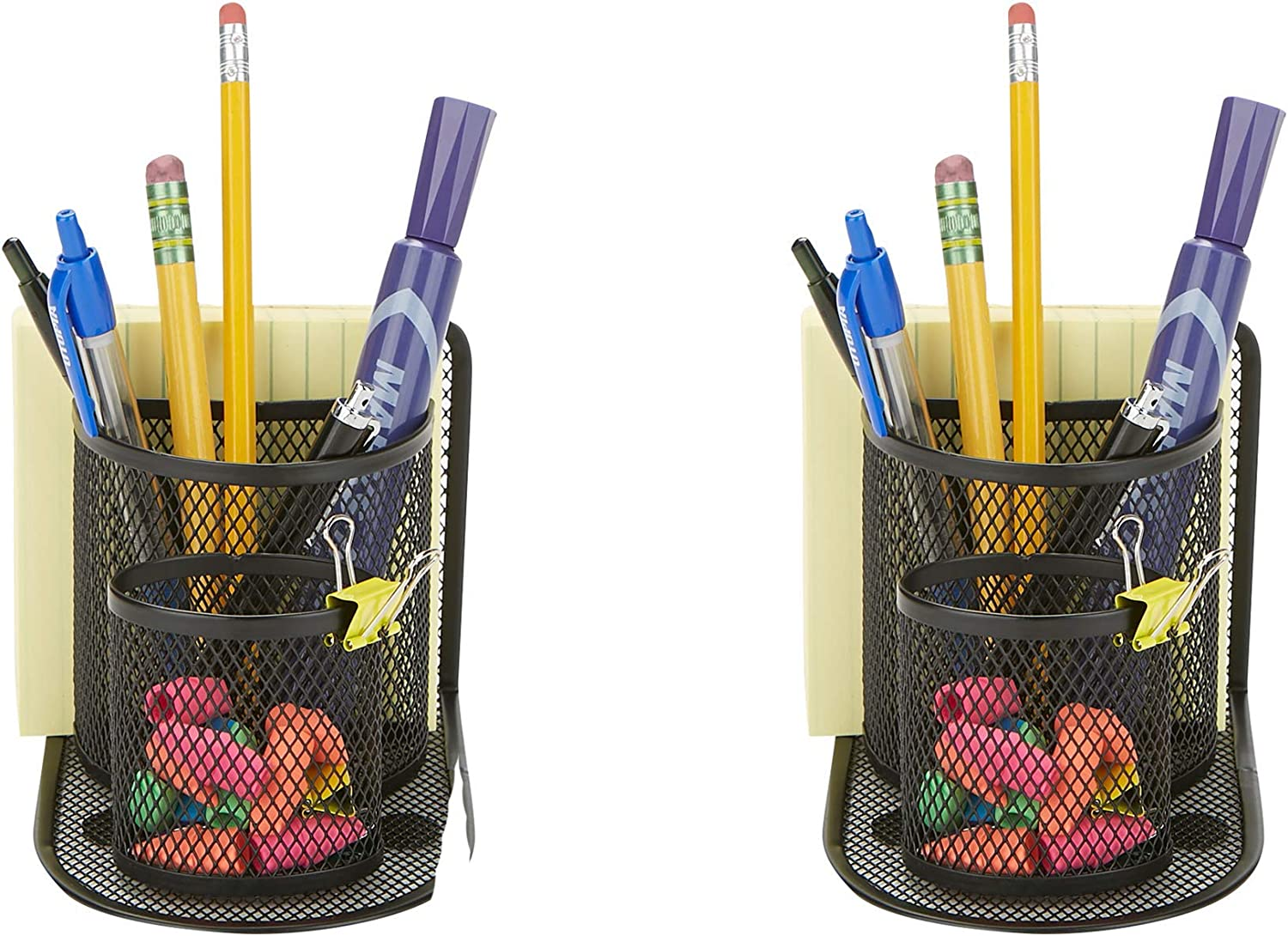 Mind Reader SHAPORG2-BLK 2 OFFicial store Piece Thumbt Pen Tulsa Mall Paperclip Pencil