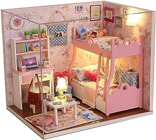 Txyk Cabañas de Madera de Bricolaje Casa de muñecas en
