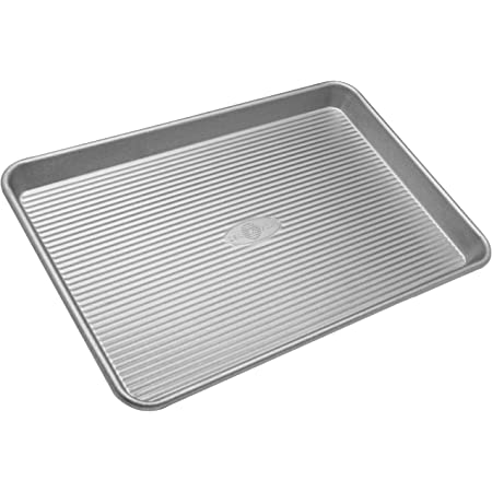 USA Pan Bakeware Half Sheet Pan, Warp Resistant Nonstick Baking Pan, Made in the USA from Aluminized Steel
