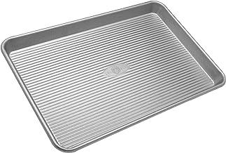 USA Pan Bakeware Half Sheet Pan, Warp Resistant Nonstick Baking Pan, Made in the USA from Aluminized Steel -
