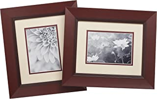 Old Town 8x10 Walnut Scoop Wood Frame, 2-Pack - New Zealand Pine and Malaysian Durian for a Gallery Ready Presentation (2, Walnut Scoop)