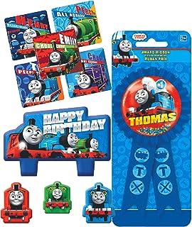 توماس تولد شمع تولد موتور و کیسه های کوپه روبان تولد برای مهمان افتخار! به علاوه (5) و دوست دشنه دوستانه!