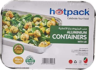 Hotpack Mapco Disposable Aluminum Container with Lid, Silver PA83185