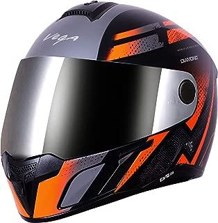 Vega Evo BT Diamond Dull Black Orange Helmet- L