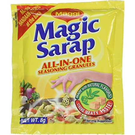 Amazon Com Maggi Magic Sarap All In One Seasoning 8g 12pc Meat Seasonings Grocery Gourmet Food