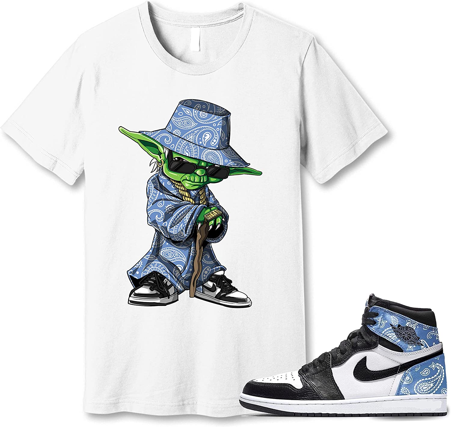 #Yoda White Challenge the lowest price Shirt to Match Jordan Sneaker for Men 1 Gift Paisley Attention brand
