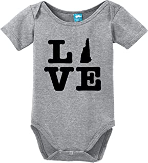 New Hampshire Love Printed Infant Bodysuit Baby Romper