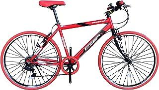 Eizer(アイゼル) 【クロスバイク】街に合う! おしゃれなバイク! シマノ7段変速で快適走行! 可変ステムであなたにピッタリハンドル高さ調整! 全5カラーバリエーション! C808 レッド/ブラック 26インチ