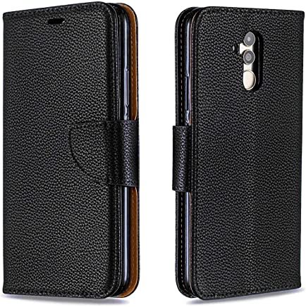Huawei Mate Lite Case  Bear Village  Premium Wallet Protective Case with Kickstand Function  Wrist Strap and Card Slots for Huawei Mate Lite  Black