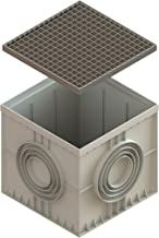22x22 Inch Large Catch Basin with Galvanized Stamped Steel Grate Complete Package