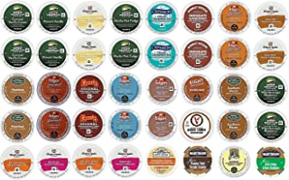 40 Count K Cup 2.0 Variety Sampler Pack - 40 Flavored K Cups for 2.0 and 1.0 Brewers - all the Top BRANDS K Cups Such As Martinson, Gloria Jean