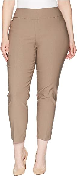 "Plus Size Solid Magical Lycra Ankle Pants ""Curvy Collection"""
