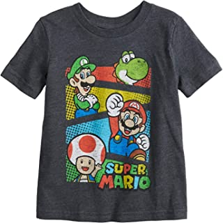 Jumping Beans Little Boys' Toddler 2T-5T Super Mario Crew Tee