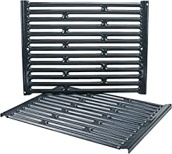 Uniflasy 15 Inch Grill Grates for Weber 200 Series with Side Control, Spirit E/S 200 & 210, Genesis Silver A, Spirit 500, Porcelain Enameled Cooking Grates for Weber 65904 65905 7521 7522 7523
