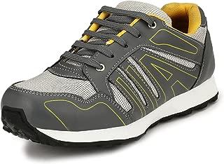 SirCorbett Men's Grey Synthetic Jogging Sports Shoes (13 UK)