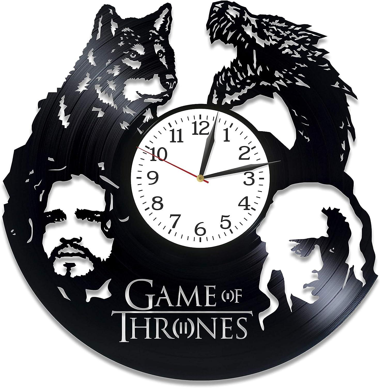 Jon Snow and Daenerys LP Vinyl Retro Record Wall Clock