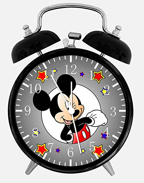 Twin Bell Mickey Mouse Alarm Desk Clock 4 Home Or Office Decor E110 Nice For Gift