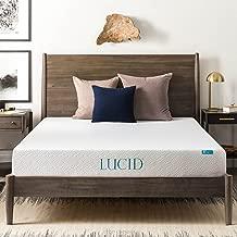 LUCID 8 Inch Gel Infused Memory Foam Mattress - Medium Firm Feel - CertiPUR-US Certified - 10-Year warranty - Queen