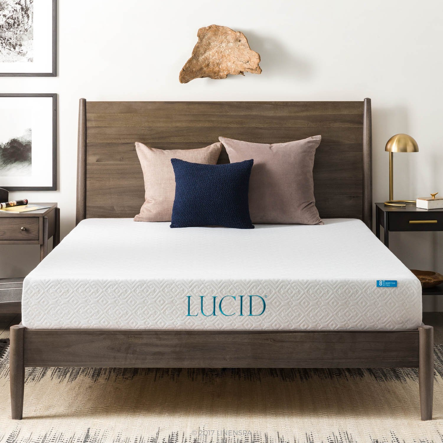 LUCID Inch Infused Memory Mattress