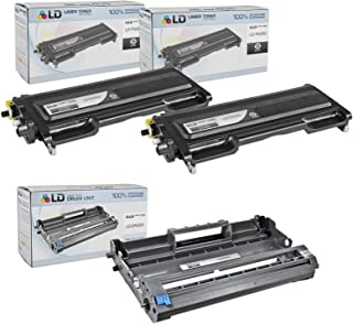 LD Compatible Toner Cartridge & Drum Unit Replacements for Brother TN350 & DR350 (2 Toners, 1 Drum, 3-Pack)