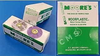 E.C. MOORE MOORE'S MOORPLASTIC Plastic Abrasive Sanding Discs Sand Medium 5/8