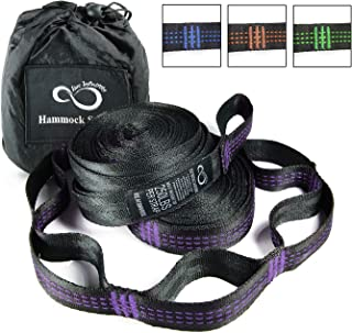 Live Infinitely Hammock Hanging Tree Straps- Adjustable 16 Loop Per Strap - Stretch Resistant Poly Filament Webbed Straps with Triple Stitched Connection Points & Cinch Top Carrying Bag